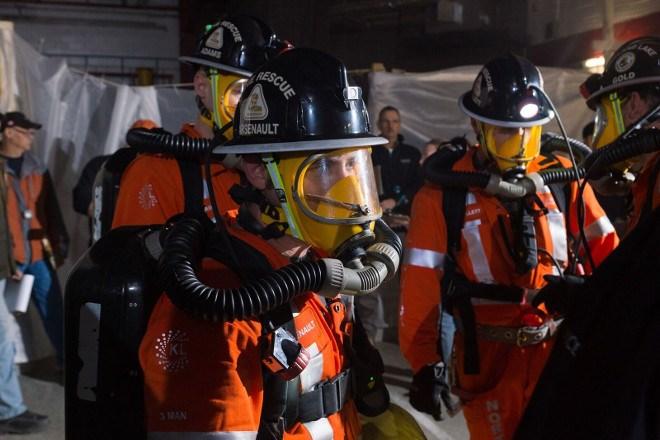 Kirkland Lake Gold mine rescue team
