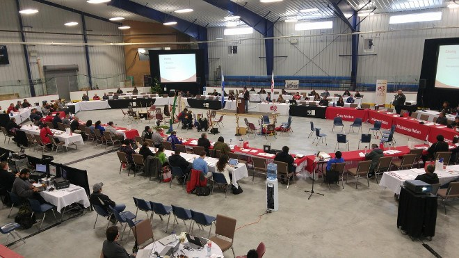 The Lac Seul Events Centre hosted the Chiefs of Ontario conference in  2017. (Lac Seul Events Centre Facebook photo)