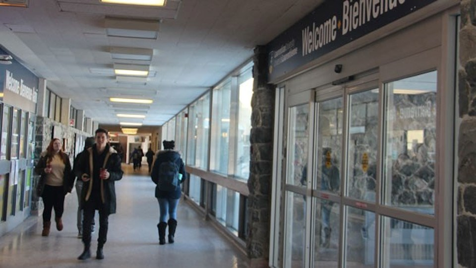 Laurentian U campus corridor