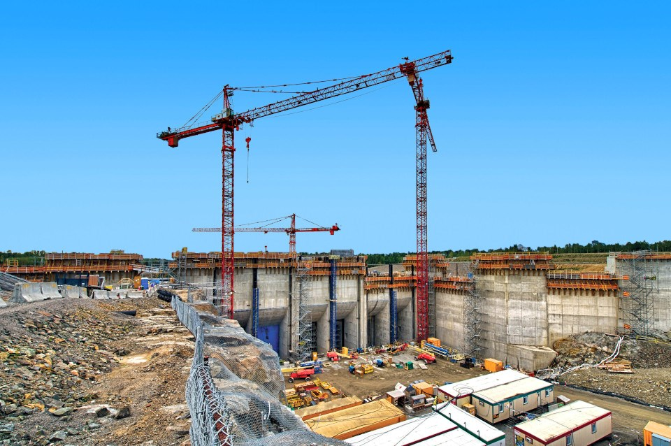 Lower Mattagami River Project Construction (OPG photo)