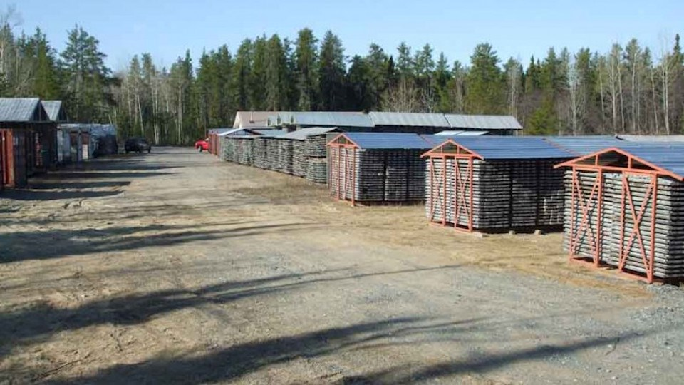Moneta Porcupine Mines core shacks