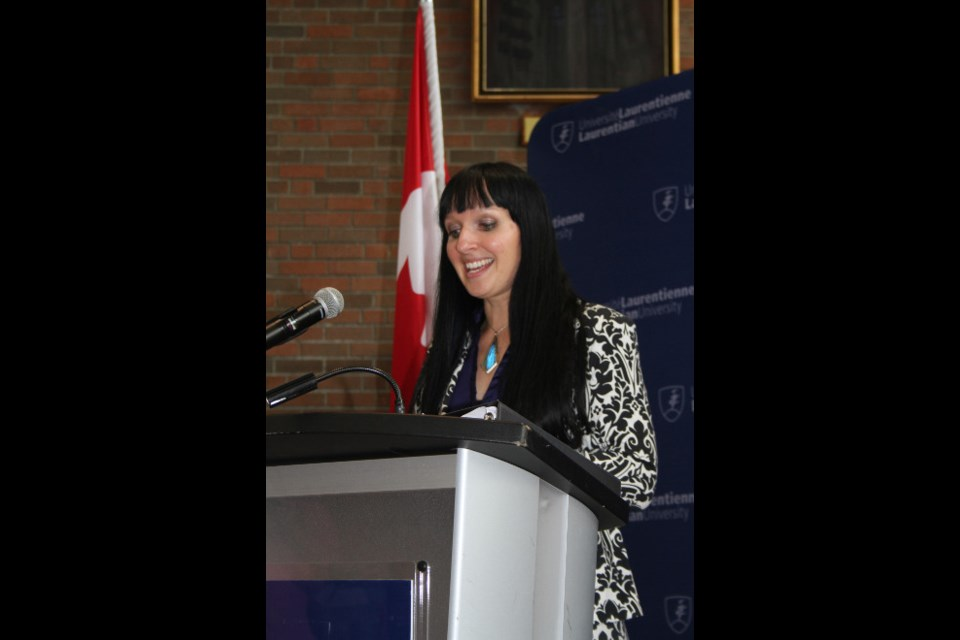 Nadia Mykytcczuk, environmental microbiologist at Vale Living with Lakes Centre, spoke about how important investment from the federal government is to researchers and institutions like Laurentian University to help supply researchers with the proper tools so they can get their research completed.