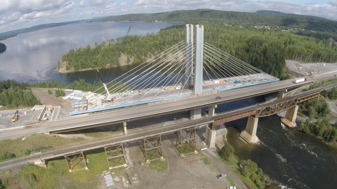 Nipigon Bridge during construction
