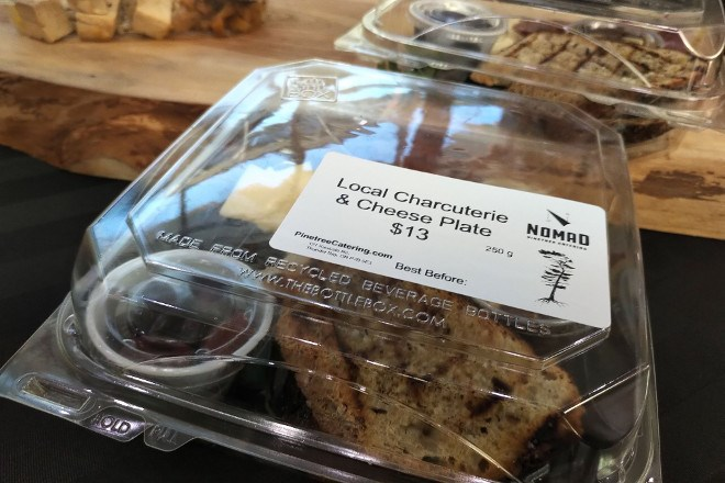 Fresh food and local ingredients are being served up at the Nomad Cafe, a grab-and-go food service, inside the arrivals/departure lounge at Thunder Bay Airport (Pinetree Catering/Facebook)
