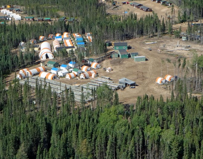 Noront Esker Camp aerial 2