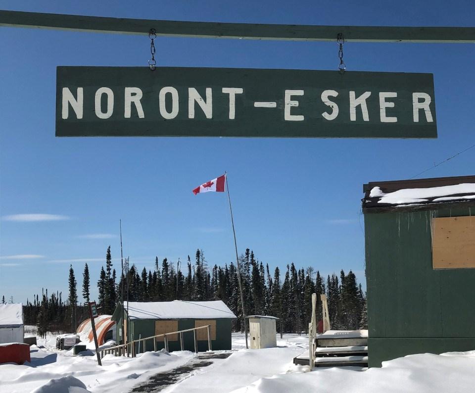 Noront Esker camp sign post