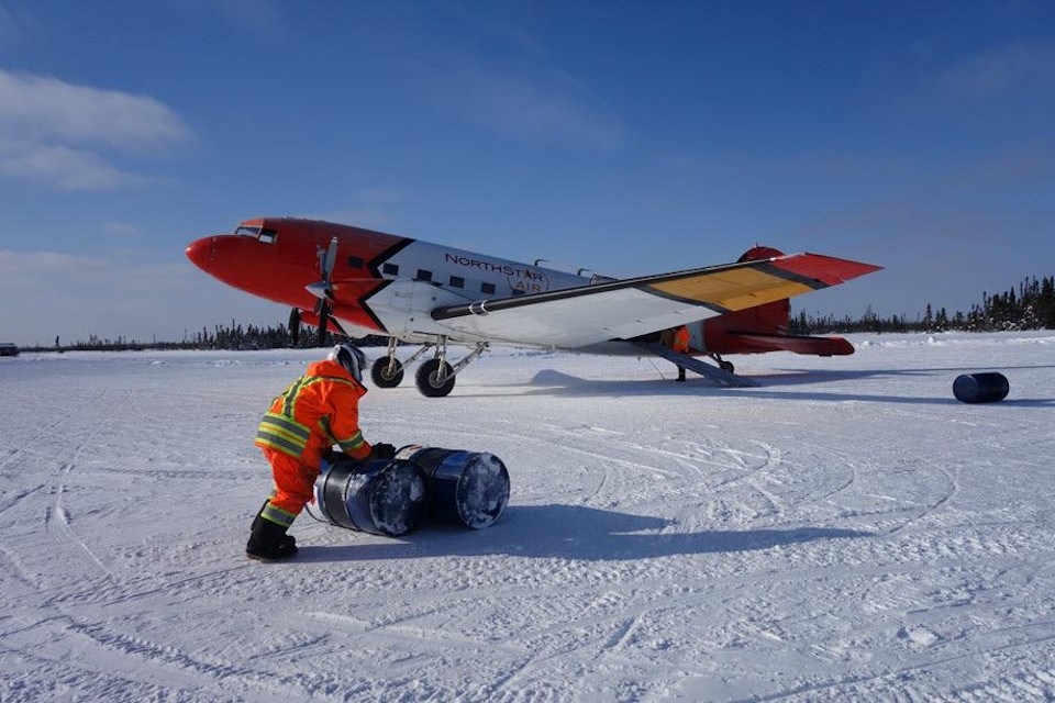 Fuel haul in the Ring of Fire (Noront Resources photo)