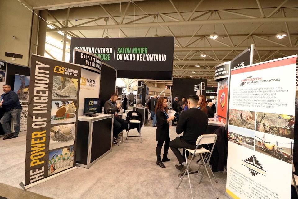 Northern Ontario Mining Showcase trade show floor