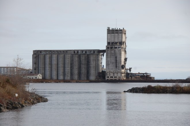 Abandoned grain elevator on the north side of Thunder Bay.