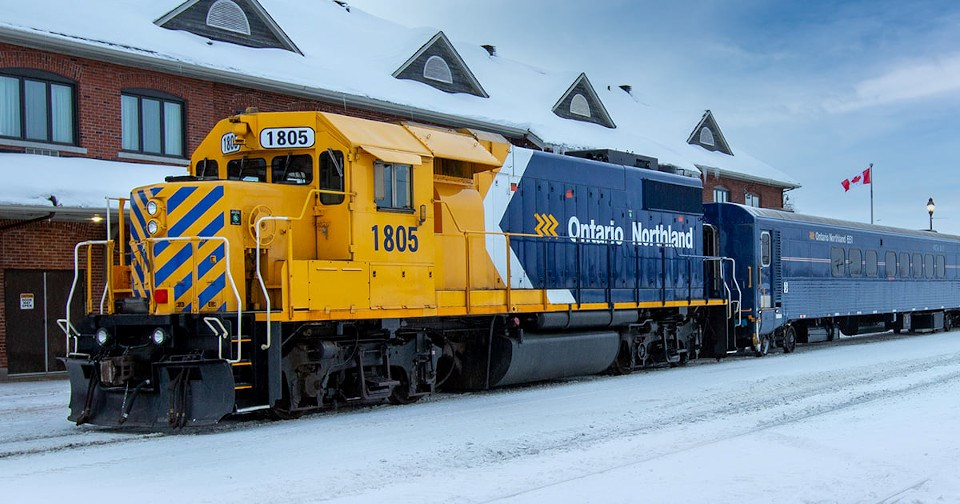 Ontario Northland Polar Bear Express Cochrane Station (Dec. 2020)