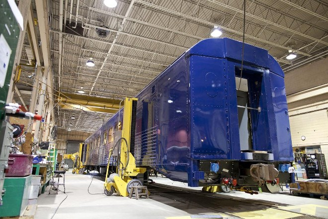 Ontario Northland remanufacture repair shop
