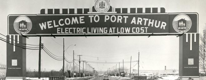 Port Arthur historic sign
