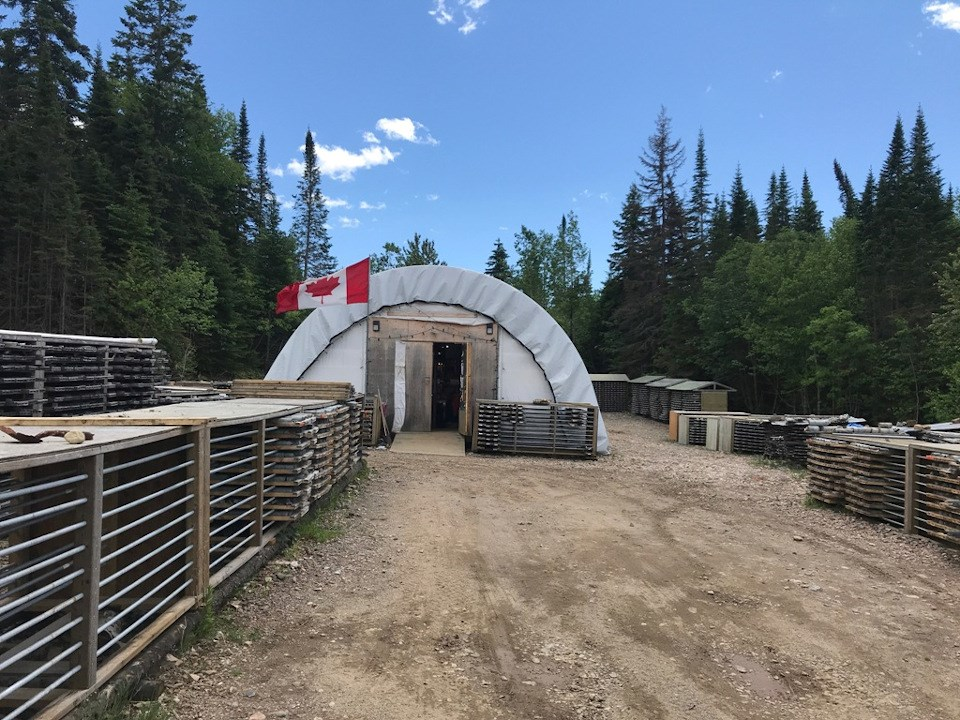 Red Pine Exploration core shack