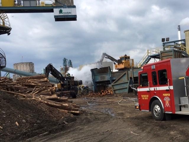 Resolute Thunder Bay yard blaze