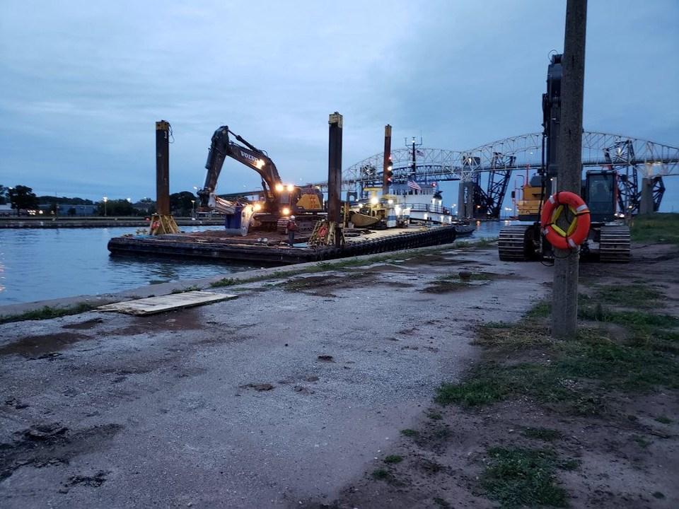 Soo lock construction shifts into 24/7 gear