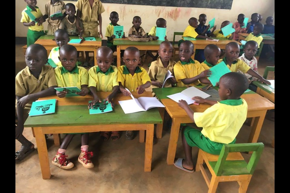 Le chemin de la lumière is an ongoing initiative to build classrooms in the village of Kavumu (supplied photo)