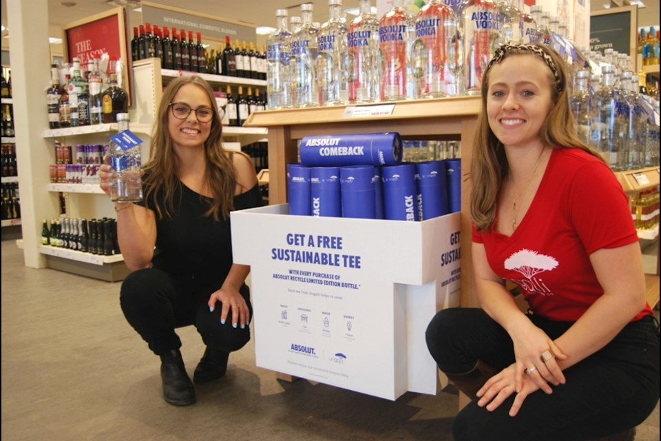 Hailey and Bree Hollinsworth in Nov 2019 when the Absolut Change Makers campaign launched at LCBO's across Ontario.