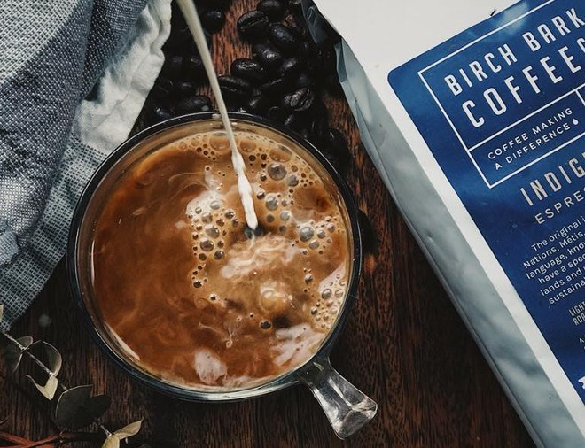 Birch Bark Coffee Company, founded by Mark Marsolais-Nahwegahbow of the Whitefish River First Nation, is donating proceeds from the sale of its coffee toward purchasing water purifiers for homes in Indigenous communities. (Birch Bark Coffee Co. photo)