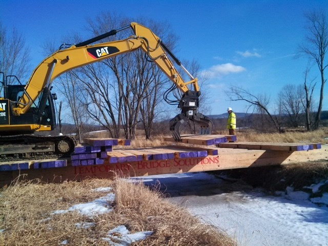 Moccasin Trails' mat systems are used to support heavy industrial equipment. (Supplied photo)