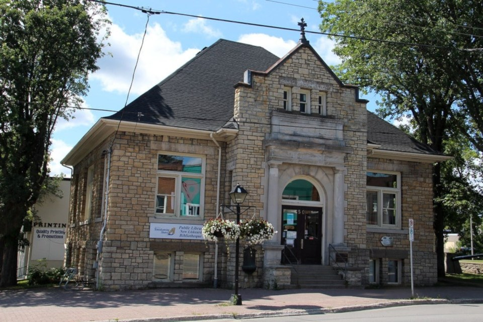 The former New Liskeard library building was constructed in 1910 with a grant from American steel magnate and philanthropist Andrew Carnegie.