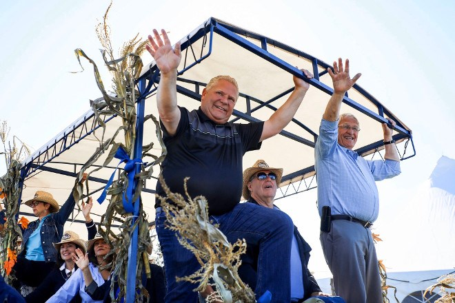 Ontario Premier Doug Ford was on hand during the opening day of the International Plowing Match and Rural Expo 2019 in Verner on Sept. 17. (Twitter photo)