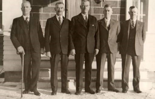 The Purvis Brothers partnership, pictured circa 1930, included (from left) William, John (Jack), James, Alexander, and Edward.