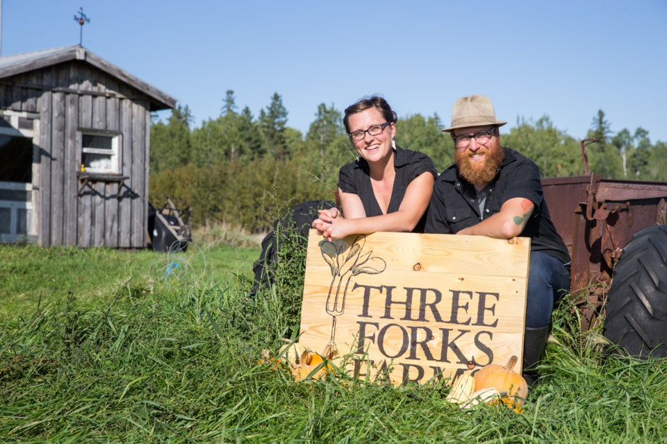 Peggy Baillie and Eric Blondin are the owners of Three Forks Farms, one of 20 Northern Ontario producers taking part in a seed diversity project this summer. (Supplied photo/Three Forks Farms)
