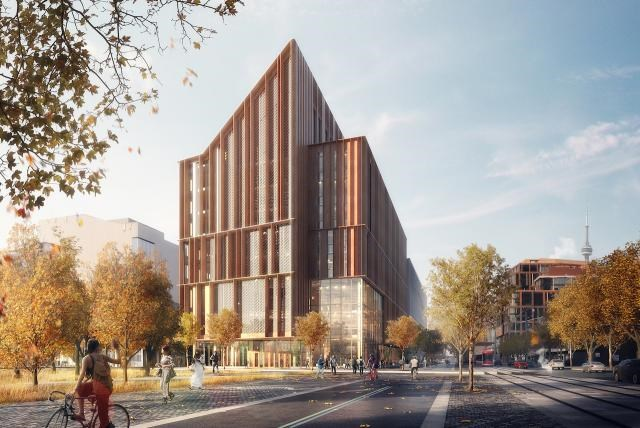 An artistic rendering demonstrates the proposed design for George Brown College's The Arbour. Moriyama & Teshima Architects (Toronto) and Acton Ostry Architects (Vancouver) were recently announced as the successful design team. (Graphic supplied)