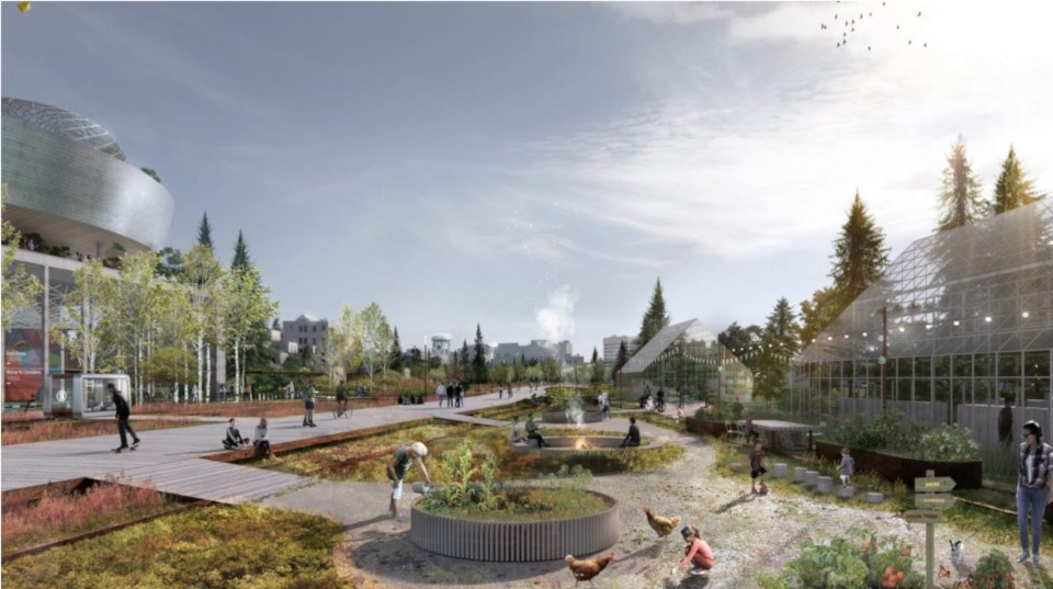 """""""Sève"""" was selected as the winning design in the open category in the Sudbury 2050 Urban Design Ideas Competition. (Supplied image)"""
