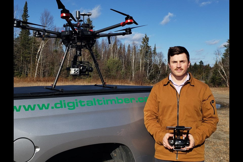 Eric Rayner is the general manager and lead field technician at Digital Timber, which is set to launch in January. (Supplied photo)