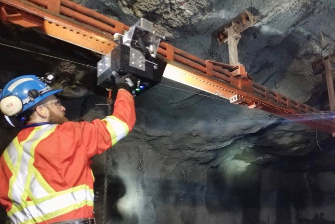 SafeSight Exploration, in co-operation with Redpath Mining, has developed the MRC Rail Runner, a utility robot that can inspect raises in underground mines. (Supplied photo)