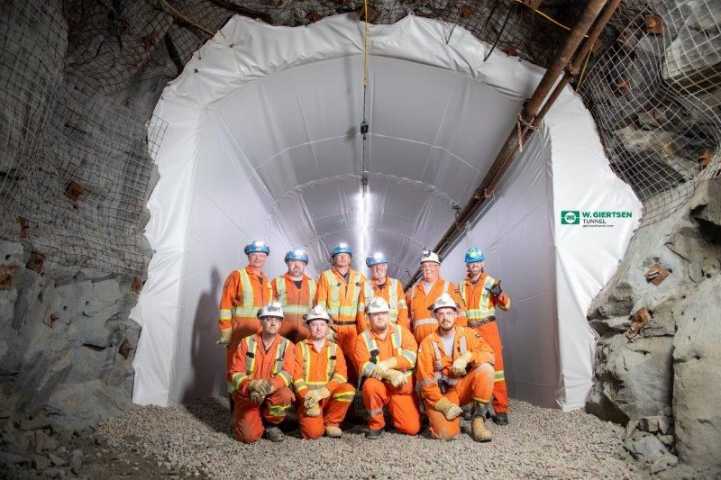 Schauenburg Industries has installed at the NORCAT Underground Centre a watertight membrane that seals areas from moisture and humidity.