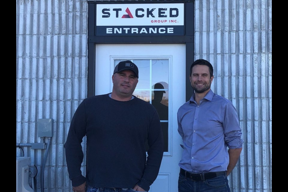 Steve Doucette (left) and Aaron Lambert are the principals behind Stacked Group Inc., a new, Sudbury-based mine and construction contracting firm. (Supplied photo)