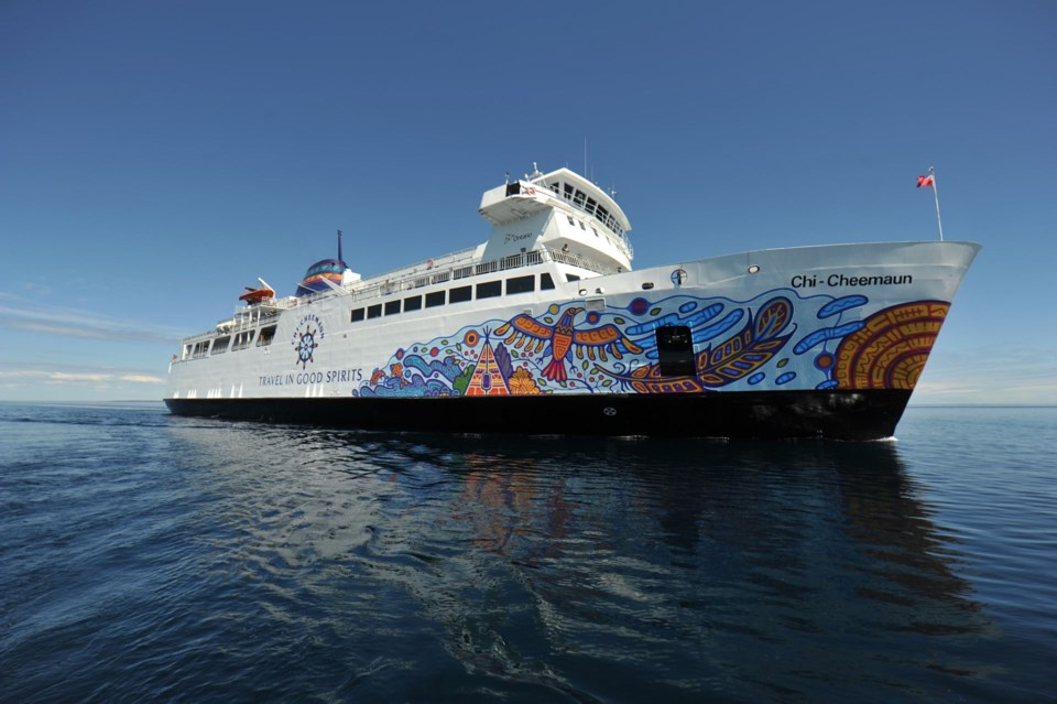 Chi Cheemaun Ferry Opens Up To Leisure Travel Northern Ontario Business