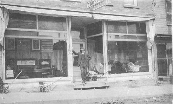 When O. J. Thorpe and Joe Blanchard opened Thorpe Bros. Furniture and Funeral Services in New Liskeard in 1908, it was the first funeral home in Northern Ontario to have a motorized hearse.