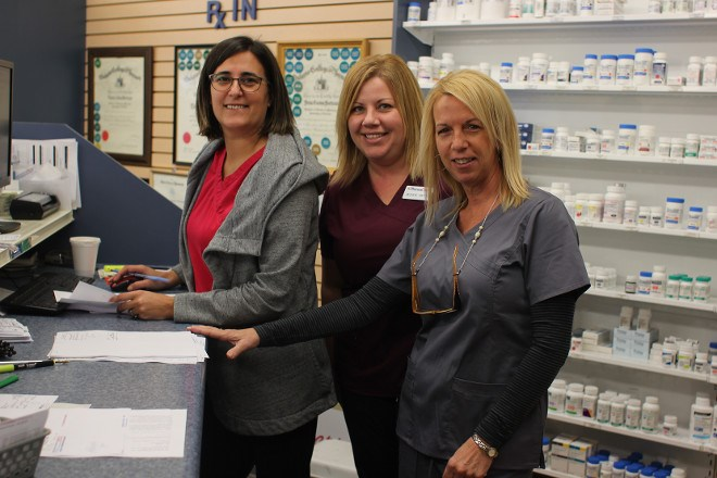 Staff at the Smooth Rock Falls Pharmacy are seeing new faces in town as people take advantage of a suite of financial incentives set up by the town to encourage new development. (Supplied photo)