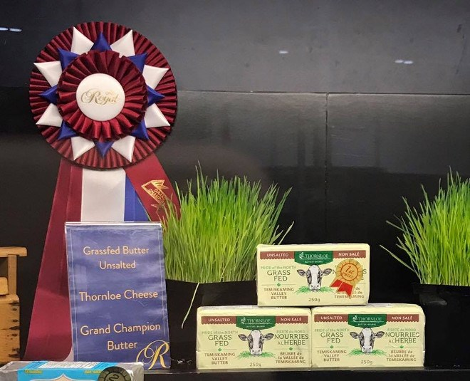 Temiskaming Valley butter, produced by Thornloe Cheese, has been declared the best in Canada during the Royal Agricultural Winter Fair, held Nov. 2-11 in Toronto. (Supplied photo)