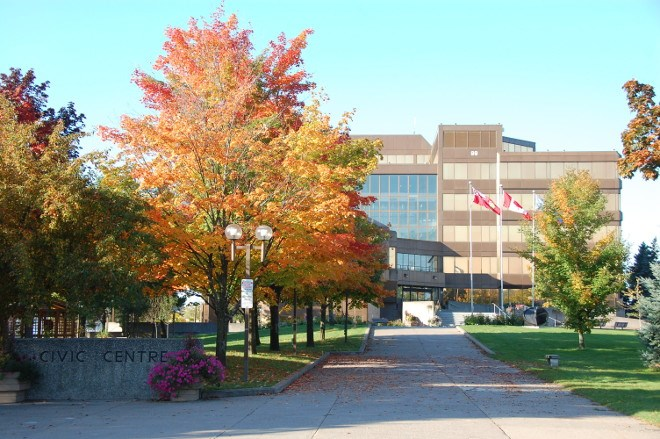 Sault Ste. Marie's 43-year-old Civic Centre is getting a makeover. Damage from water penetration, corrosion and broken window seals, all related to the age of the building, mean the building will have new cladding and windows by the end of summer, 2019. (File photo)