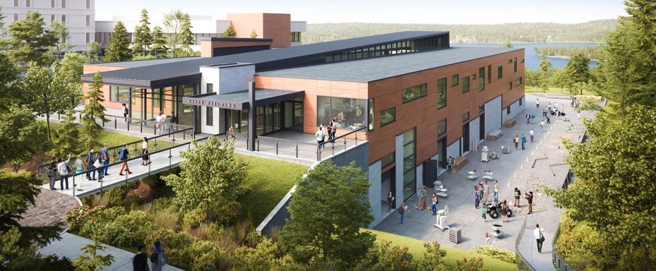Ground broke on the Cliff Fielding Research, Innovation and Engineering Building at Laurentian University in Sudbury in 2016. Construction is scheduled to be complete this spring. (Submitted image)