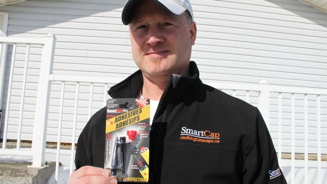 Sean Dubé's new product, the SmartCap Pro, is designed to preserve contractor adhesive before it dries out, extending the product's life and reducing cost for consumers.