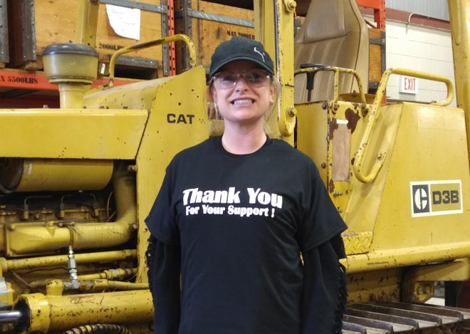 Students in the Heavy Equipment Technician program benefit from hands-on experience in the shop. (Supplied photo)