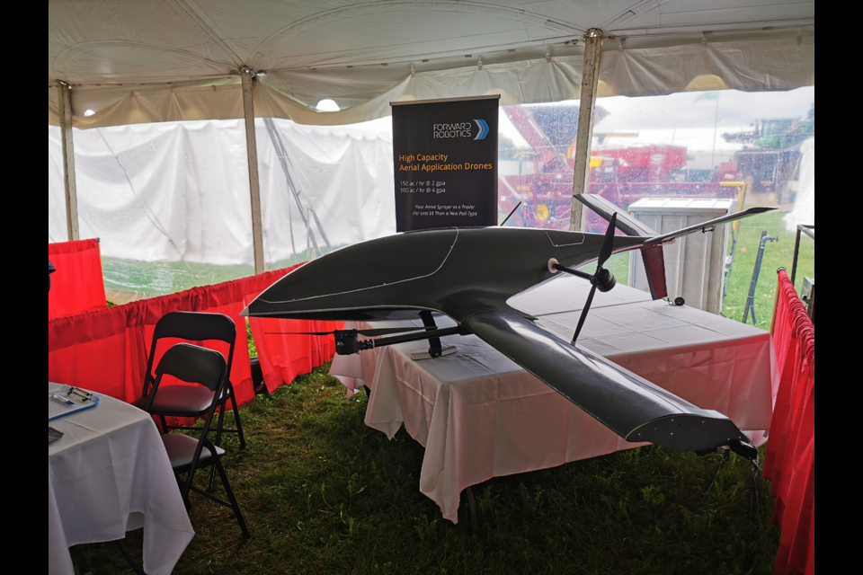 Meng Wei and Tamara Finlay, founders of Forward Robotics, hit the road this summer to showcase the prototype of the U7AG Aerial Application Drone to farmers across Ontario