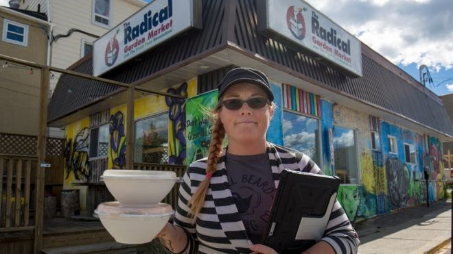 Entrepreneur, farmer, public speaker, restaurant owner, and healthy-food advocate Brianna Humphrey. Humphrey started farming in 2013 as a way to grow healthy food for herself and this snowballed into one of Timmins' most unique and diverse businesses. Jeff Klassen photo