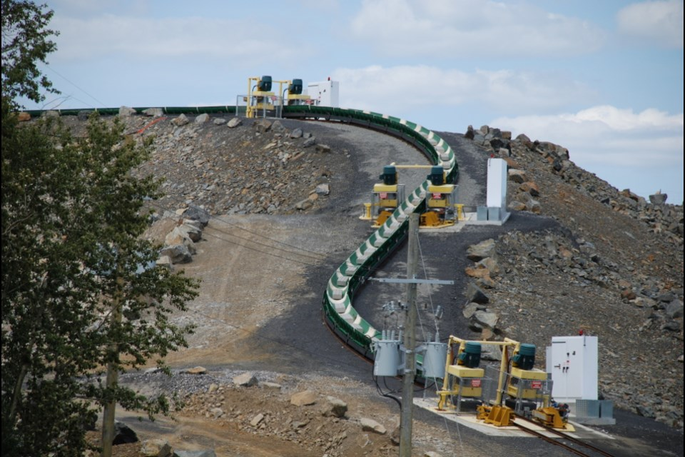 The Rail-Veyor is like a rollercoaster for ore, moving materials along a track through various areas of a mine. (File photo)