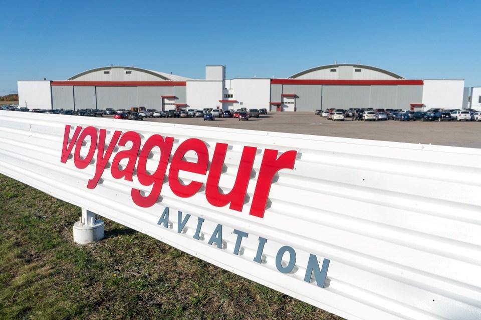 Voyageur Aviation hangars at Jack Garland Airport, North Bay