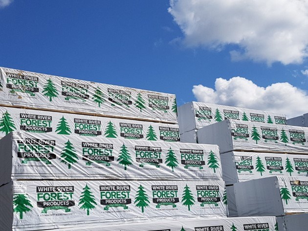 White River FP lumber stack