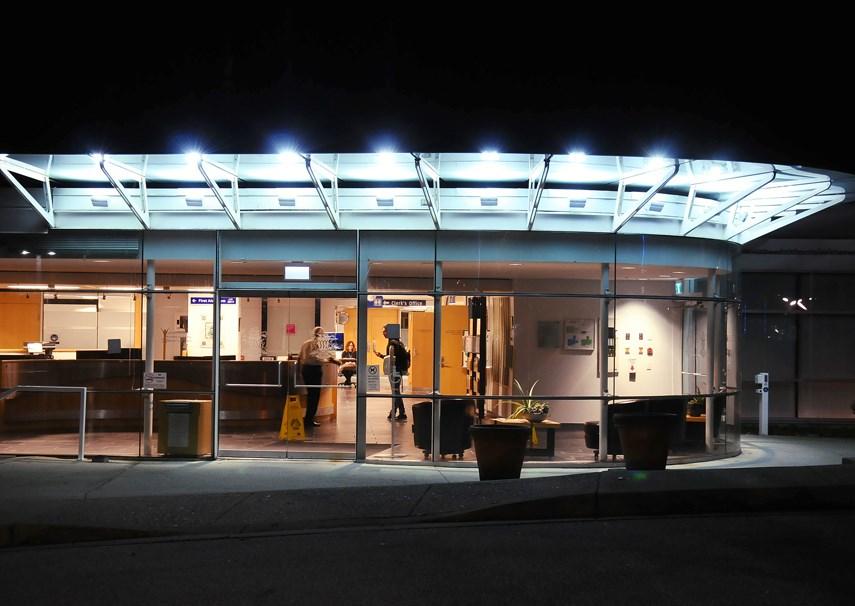 District NV Building At Night CG