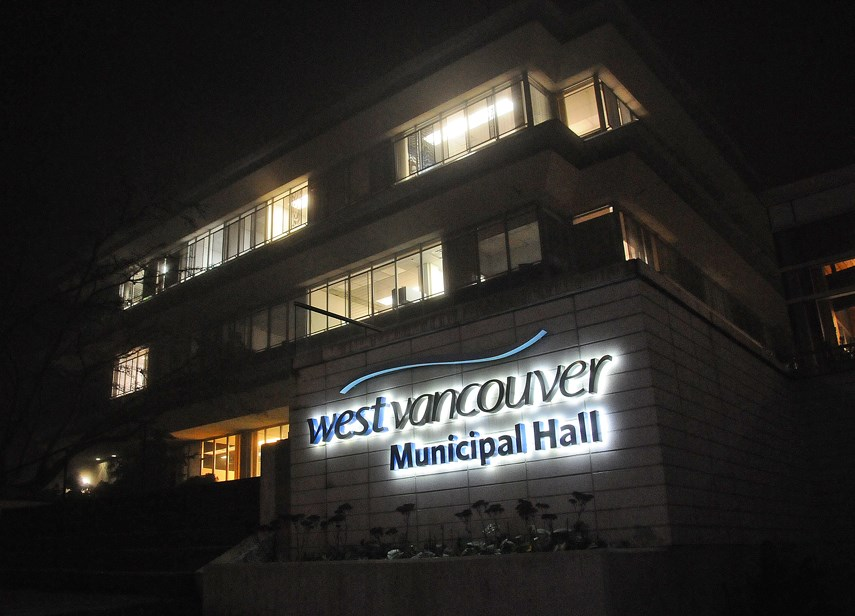 West Van Municipal Hall at Night CINDY