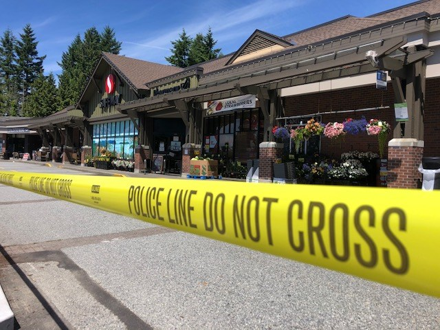 West Vancouver Police evacuated the Caulfeild Safeway store on Thursday afternoon (June 17, 2021) after staff said they'd received word of a possible bomb threat. | supplied