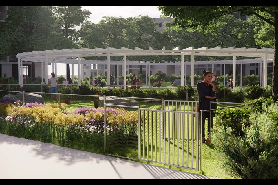 The City of North Vancouver has released the designs for a new circle-shaped park to be built at 1600 Eastern Avenue. The park's main feature is a circular covered canopy with hammocks and porch swings hanging from underneath.
